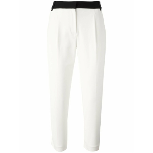 Imagen principal de producto de Tibi pantalones capri con cinturilla en contraste - Blanco - Tibi
