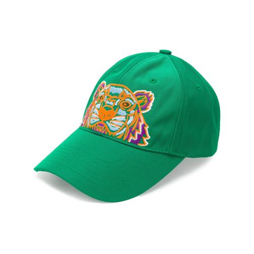 Kenzo gorra Tiger Canvas - Verde