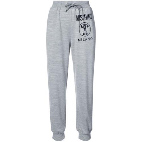 Imagen principal de producto de Moschino pantalones joggers con cordones y logo - Gris - Moschino