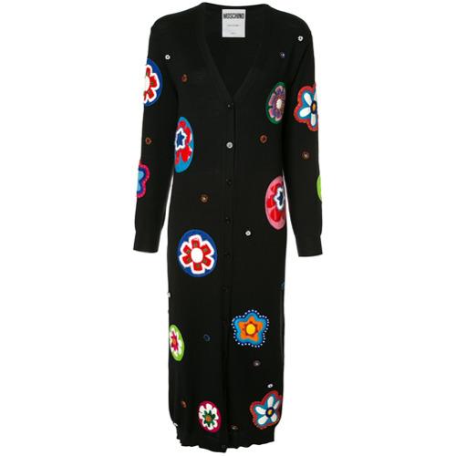 Imagen principal de producto de Moschino vestido estilo cárdigan largo con cuentas - Negro - Moschino