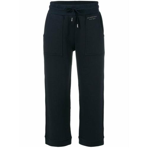 Imagen principal de producto de Burberry pantalones jogging capri - Azul - Burberry