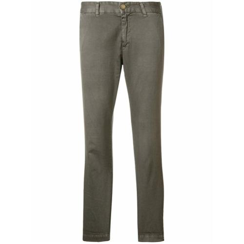 Imagen principal de producto de Current/Elliott pantalones con corte slim - Gris - Current/Elliott