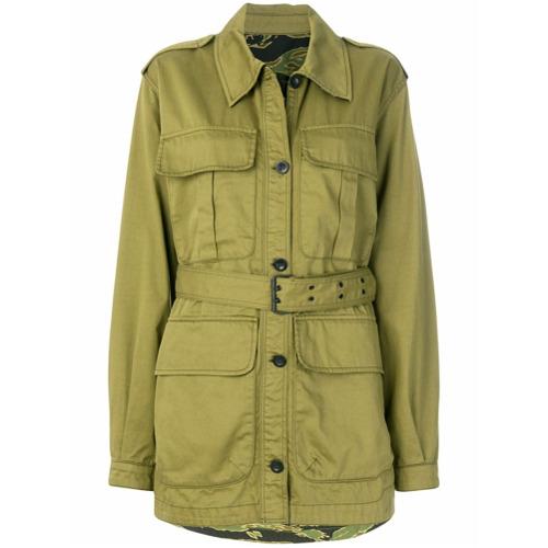 Imagen principal de producto de Mih Jeans chaqueta militar con cinturón - Verde - MiH Jeans