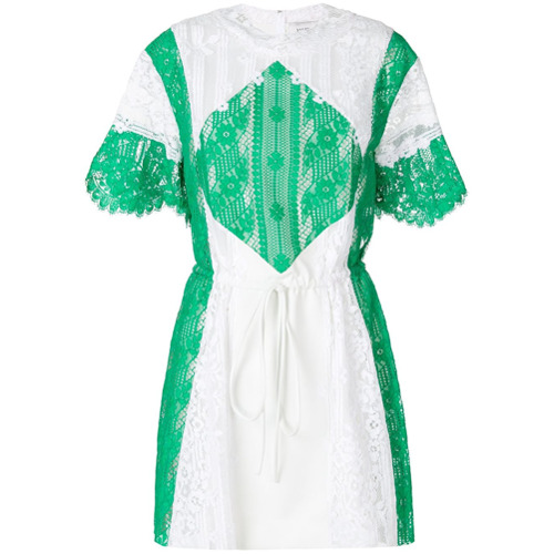 Imagen principal de producto de Valentino vestido de encaje a panales - Blanco - Valentino