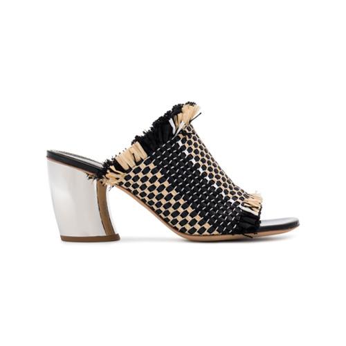 Imagen principal de producto de Proenza Schouler sandalias de tacón tejidas 70 - Negro - Proenza Schouler