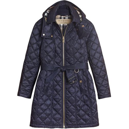 Imagen principal de producto de Burberry abrigo estilo parka acolchado - Azul - Burberry