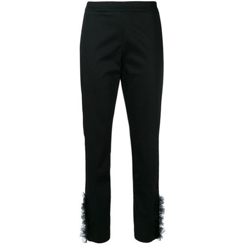 Imagen principal de producto de Moschino pantalones de vestir con bajos de tul - Negro - Moschino