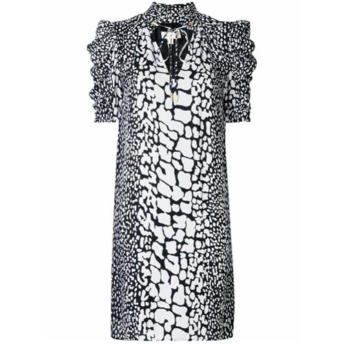 Imagen principal de producto de Michael Michael Kors vestido recto con motivos - Blanco - MICHAEL Michael Kors