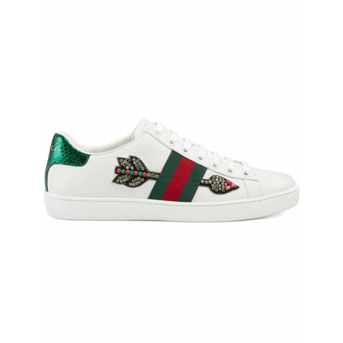 Imagen principal de producto de Gucci zapatillas bordadas Ace - Blanco - Gucci