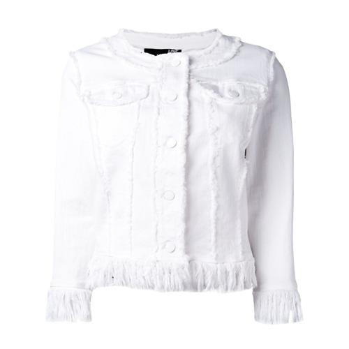 Imagen principal de producto de Love Moschino chaqueta con bordes con flecos - Blanco - Moschino