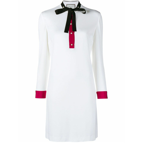 Imagen principal de producto de Gucci vestido tubo de manga larga - Blanco - Gucci