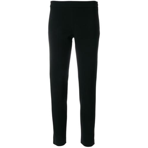 Imagen principal de producto de Moschino pantalones slim de talle alto - Negro - Moschino