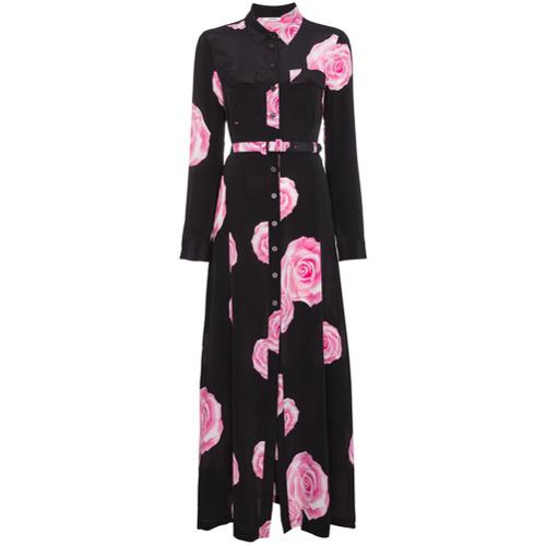 Imagen principal de producto de Ganni vestido camisero de manga larga - Negro - Ganni
