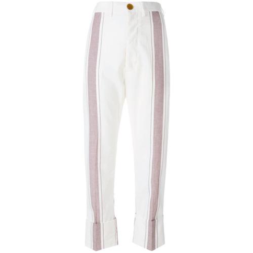 Imagen principal de producto de Vivienne Westwood pantalones a rayas - Blanco - Vivienne Westwood