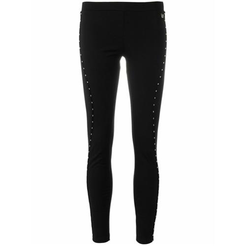 Imagen principal de producto de Versace Jeans leggins con detalles de costuras - Negro - Versace