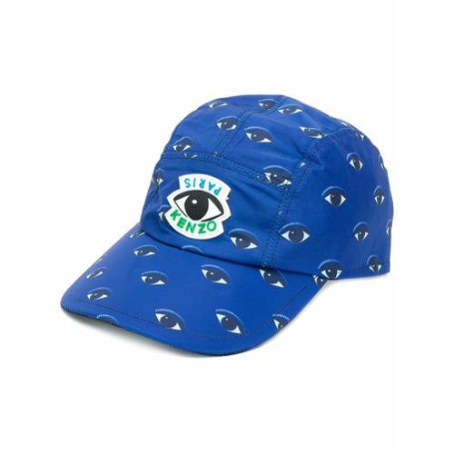 Kenzo gorra con estampado Eye - Azul