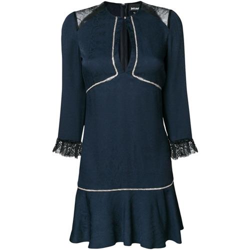 Imagen principal de producto de Just Cavalli vestido corto con detalles - Azul - Just Cavalli