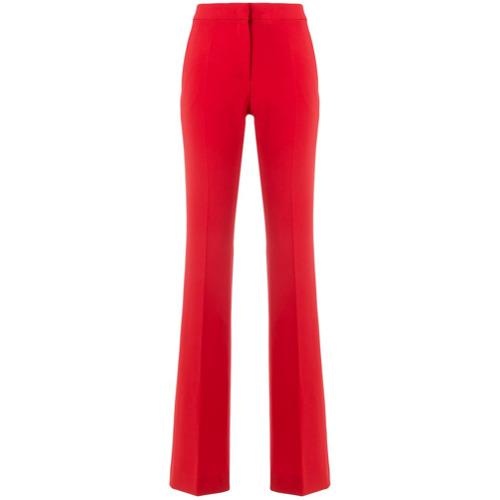 Imagen principal de producto de Moschino pantalones anchos de talle alto - Rojo - Moschino