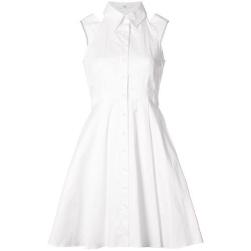 Imagen principal de producto de Zac Zac Posen vestido con aberturas en los hombros Isobel - Blanco - ZAC Zac Posen
