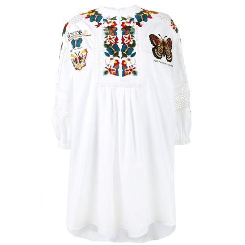 Imagen principal de producto de Valentino vestido tipo túnica bordado - Blanco - Valentino