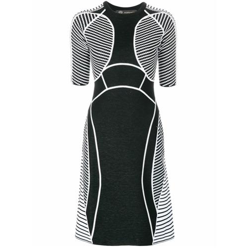 Imagen principal de producto de Versace vestido de paneles con punto gráfico - Negro - Versace