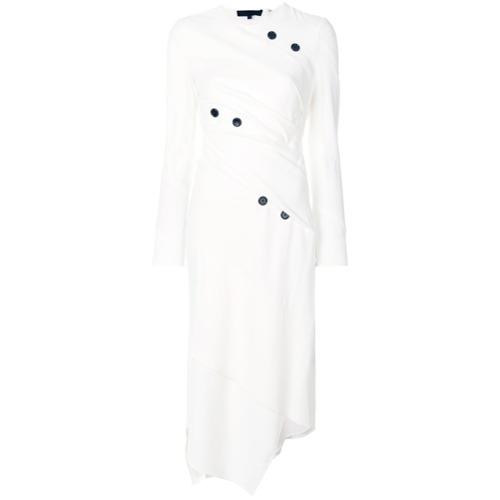 Imagen principal de producto de Proenza Schouler vestido midi asimétrico Spiral - Blanco - Proenza Schouler