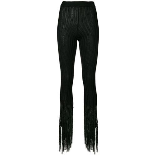 Imagen principal de producto de Moschino pantalones de canalé con flecos - Negro - Moschino