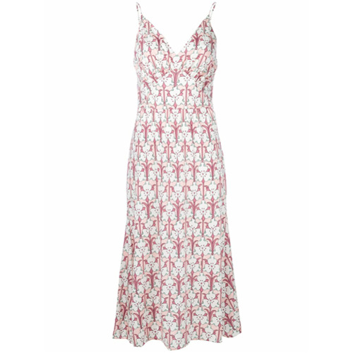 Imagen principal de producto de Prada slip dress midi estampado - Blanco - Prada