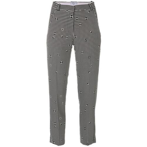 Imagen principal de producto de Carven pantalones tapered a cuadros - Negro - Carven