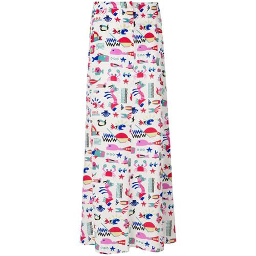 Imagen principal de producto de Emporio Armani falda larga estampada - Blanco - Emporio Armani