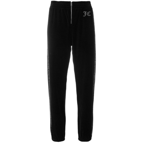 Imagen principal de producto de Juicy Couture customisable velour track pants - Negro - Juicy Couture