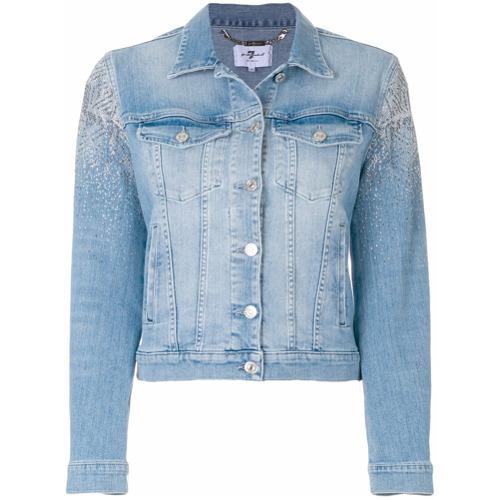 Imagen principal de producto de 7 For All Mankind chaqueta vaquera con apliques - Azul - 7 for all mankind