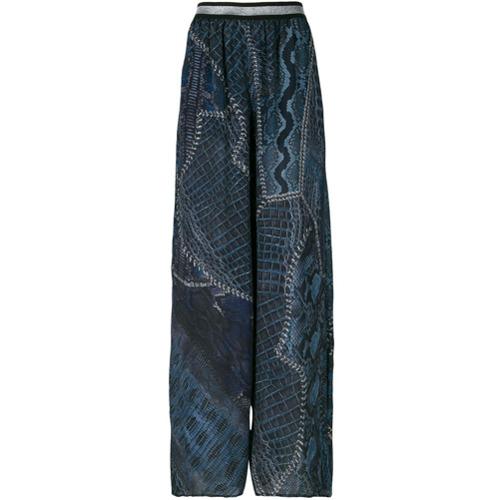 Imagen principal de producto de Just Cavalli pantalones acampanados estampados - Azul - Just Cavalli