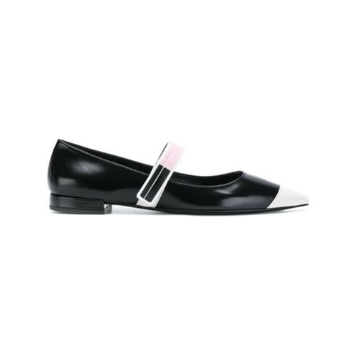 Imagen principal de producto de Prada bailarinas con logo y puntera en punta - Negro - Prada