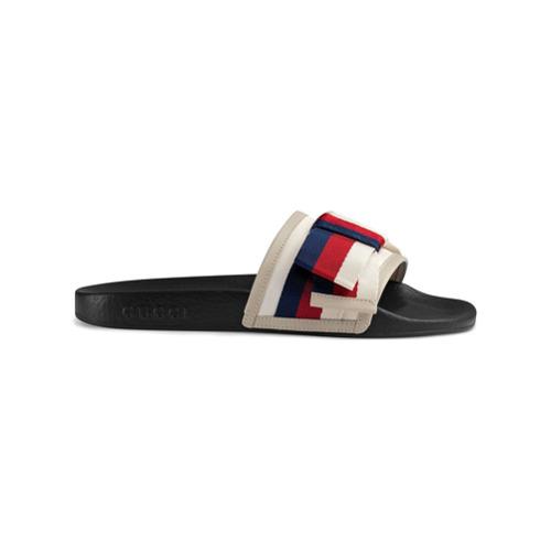 Imagen principal de producto de Gucci chanclas con lazo Sylvie - Blanco - Gucci