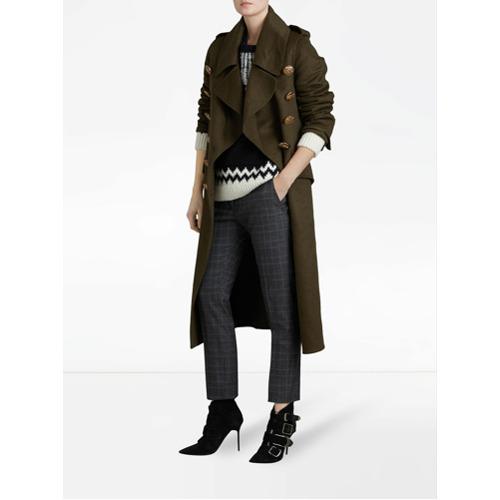 Imagen principal de producto de Burberry Prince of Wales check trousers - Gris - Burberry