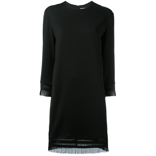 Imagen principal de producto de DKNY vestido de tubo con flecos - Negro - DKNY