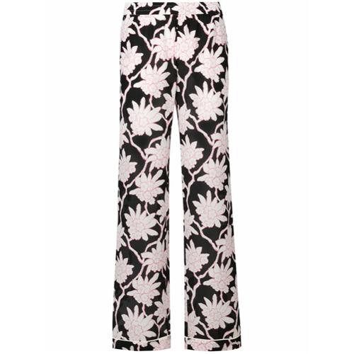Imagen principal de producto de Valentino pantalones palazzo Popflowers - Negro - Valentino