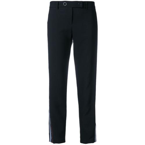 Imagen principal de producto de Versace Jeans pantalones con raya del logo - Negro - Versace