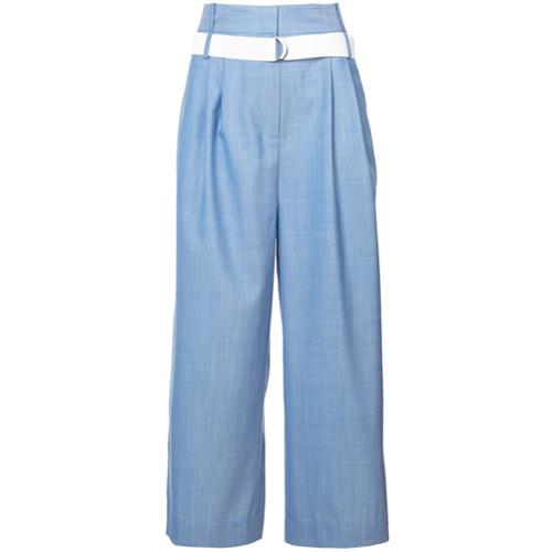 Imagen principal de producto de Tibi Serge pleat detail wide leg trousers - Azul - Tibi