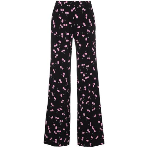 Imagen principal de producto de Miu Miu pantalones de talle alto con motivo de cerezas - Negro - Miu Miu