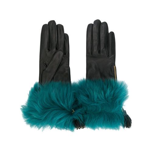 Imagen principal de producto de Prada guantes con ribete de pelo - Negro - Prada