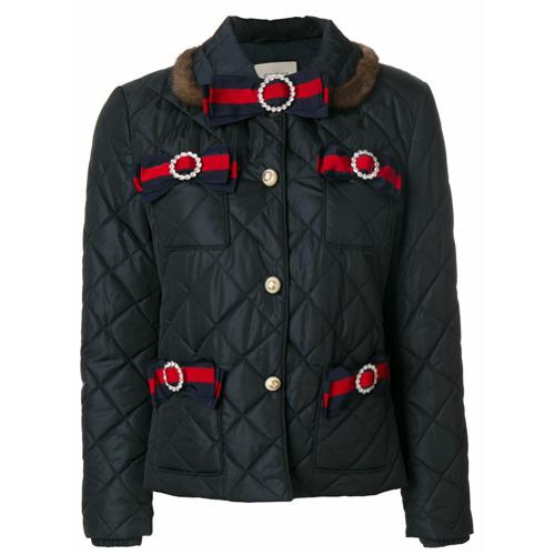 Imagen principal de producto de Gucci chaqueta acolchada Web - Azul - Gucci