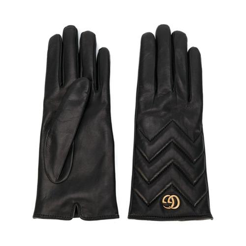 Imagen principal de producto de Gucci guantes con motivo chevron GG Marmont - Negro - Gucci