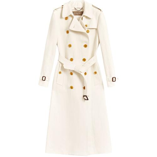 Imagen principal de producto de Burberry double breasted trench coat - Blanco - Burberry