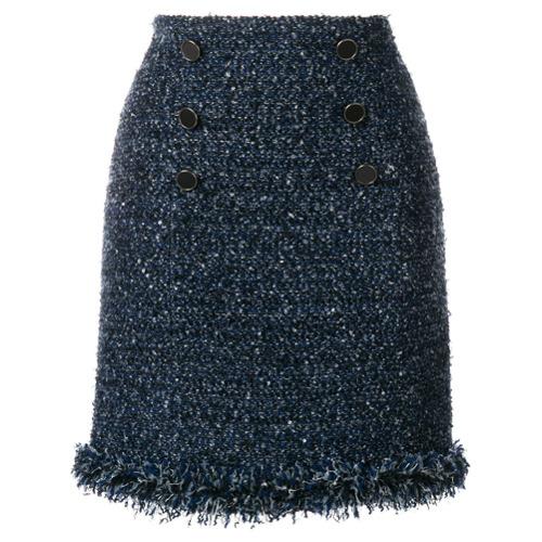 Imagen principal de producto de Karl Lagerfeld falda de bouclé con flecos - Azul - KARL LAGERFELD