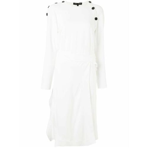 Imagen principal de producto de Proenza Schouler vestido midi con botones decorativos - Blanco - Proenza Schouler