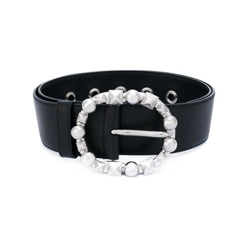 Imagen principal de producto de Miu Miu cinturón con apliques en la hebilla - Negro - Miu Miu