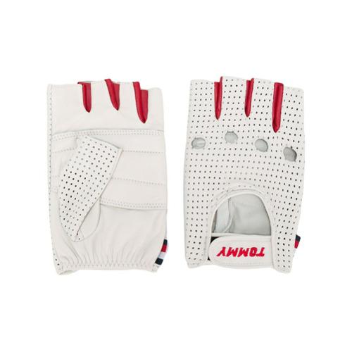 Imagen principal de producto de Tommy Hilfiger guantes de conducir con perforaciones - Blanco - Tommy Hilfiger