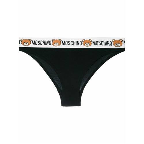 Imagen principal de producto de Moschino bragas Teddy Bear con logo - Negro - Moschino